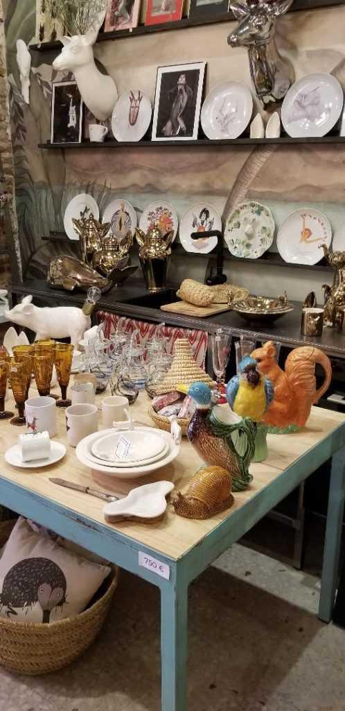 Ceramics in Guille García-Hoz shop in the Chueca neighbourhood in Madrid