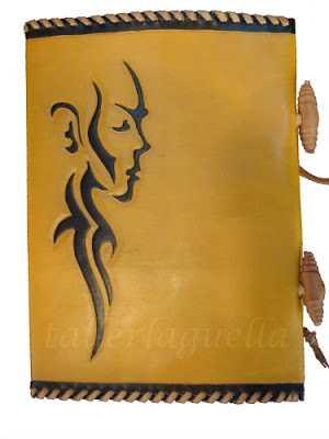 leather agenda by Granada artisan Taller La Guella