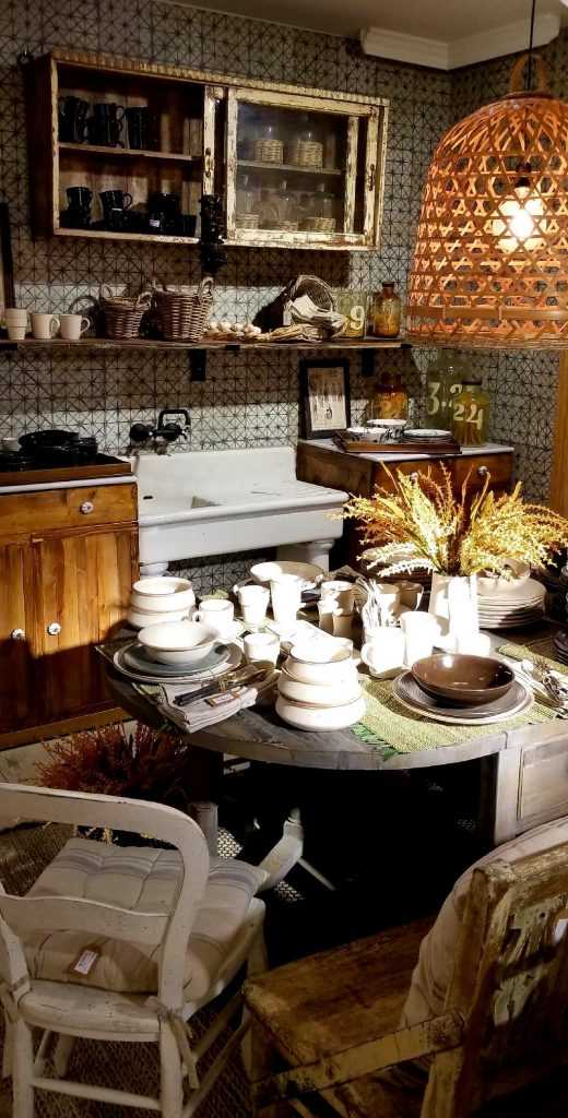 Kitchen display in Ofelia Home and Decor shop in Chueca, Madrid