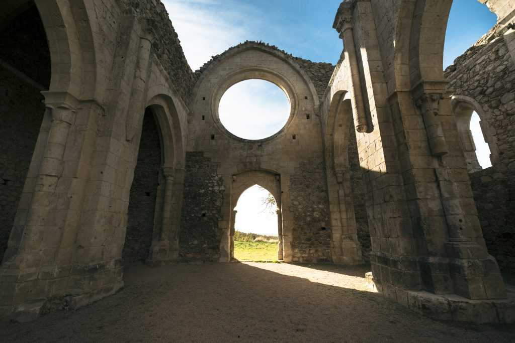 Abbatte's workshop and offices sit on the grounds of a 13th century Cistercian monastery.