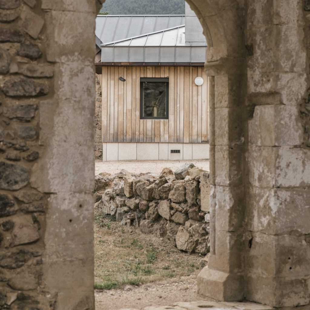 Ábbatte's workshop and offices sit on the grounds of a 13th century Cistercian monastery.