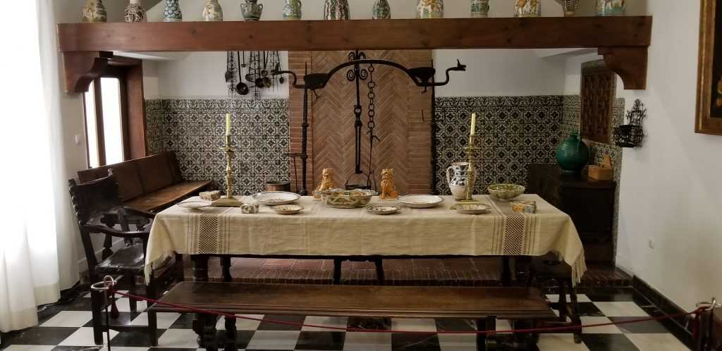 Recreation of a country kitchen in the National Museum of Decorative Arts