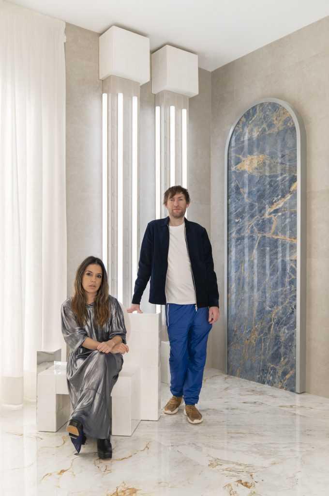 Ana Milena Hernández Palacios and Christophe Penasse of Masquespacio in their Concept Space for Roca Tiles at Casa Decor 2020