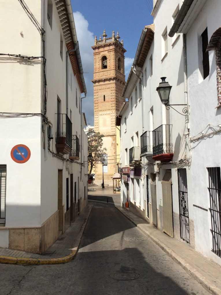 View of the San Roc Parish Church in Oliva, Valencia