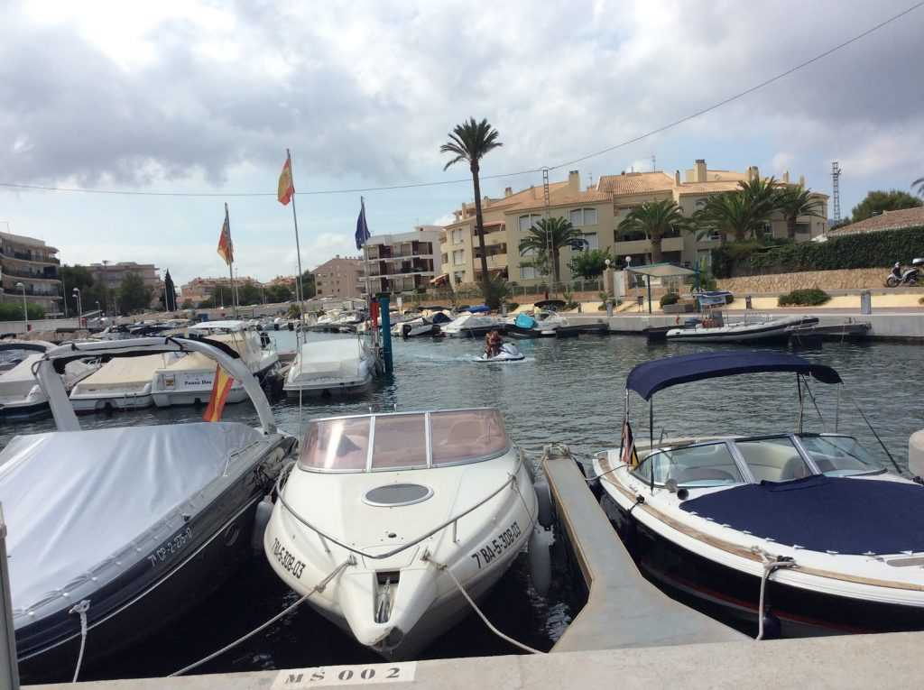 Boats in the port of Javea Alicante, Spain