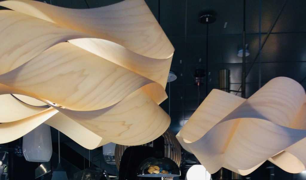 Swirl ceiling lights by LZF in Anos de Luz shop in Madrid