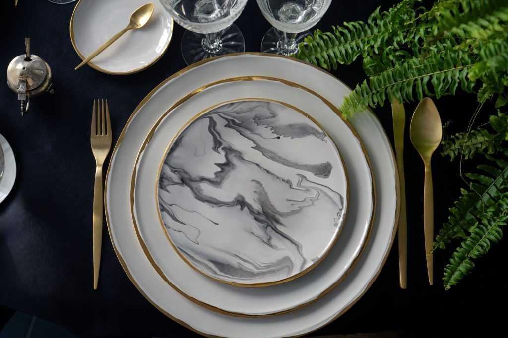 Marble collection by Vajillas del Ultramar