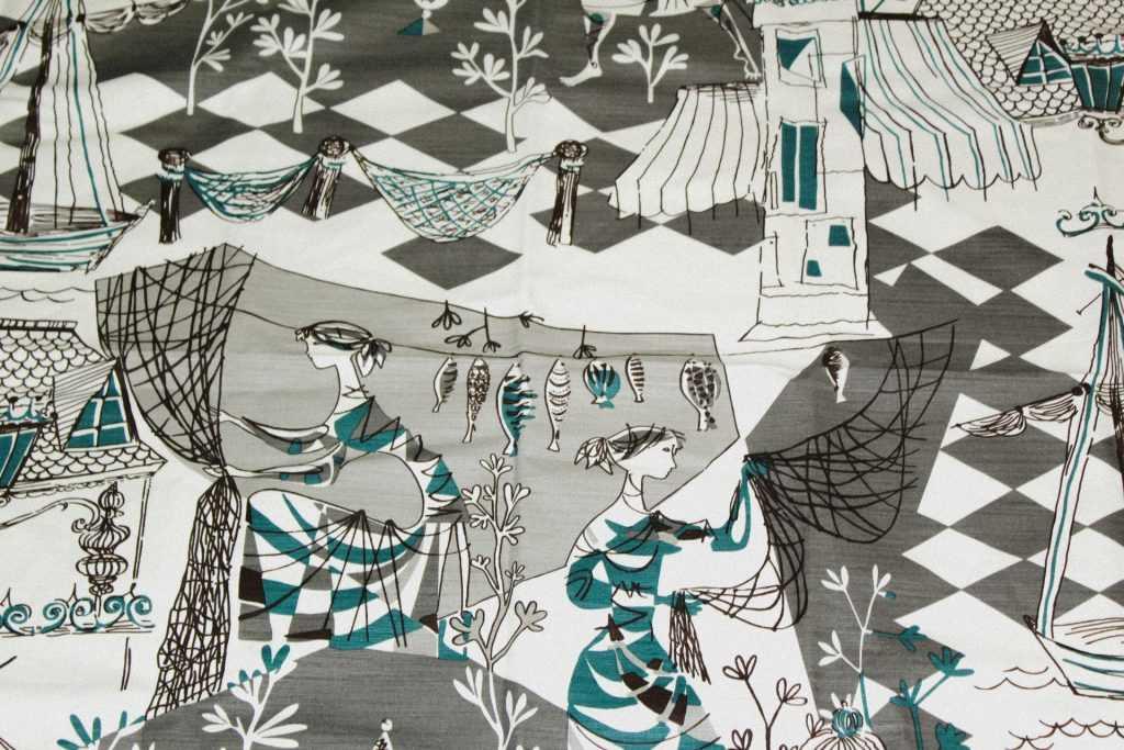 Villefranche fabric pattern by Gaston y Daniela