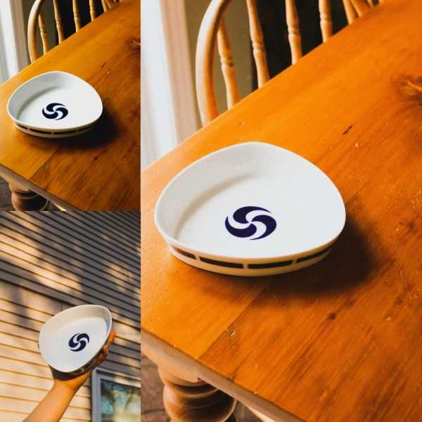 Three images of Sargadelos cermaic dish