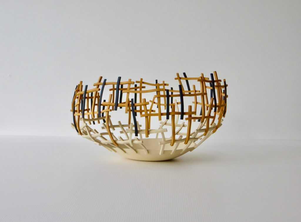 Weave ceramic art piece by Cristina Mato