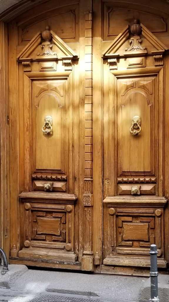 Wooden Entry Door in Madrid