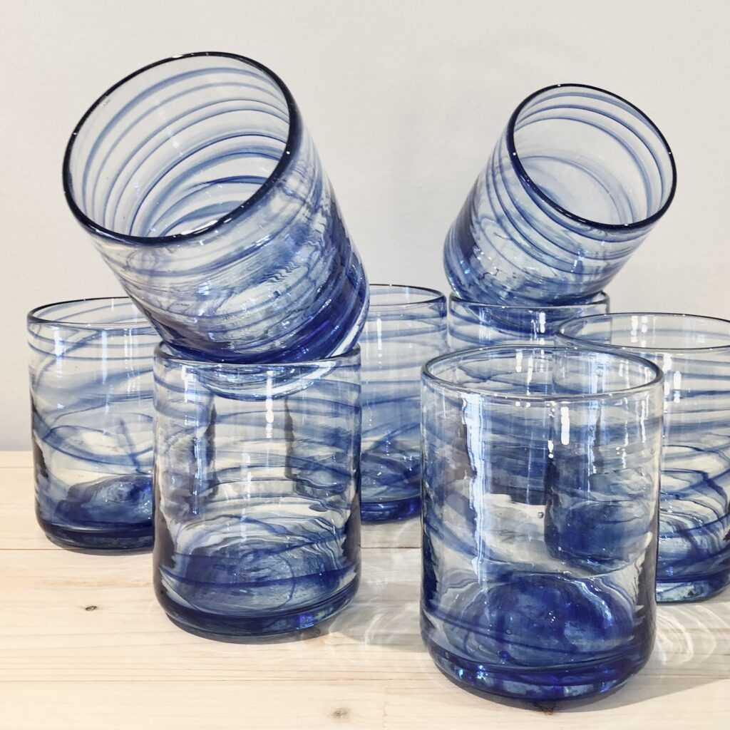 glass tumblers from Spain